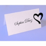 Heart Ribbon Place Name Card