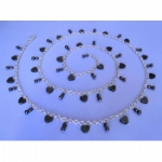 Hematite Heart Drop Belly Chain
