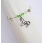 Horse Beaded Napkin Ring
