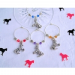 Horse Wine Glass Charms & Napkin Rings
