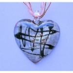 Huge Glass Heart Necklace