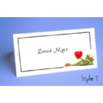 Kissed A Frog Folded Place Name Cards