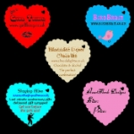 Large Personalised Scalloped Heart Tags