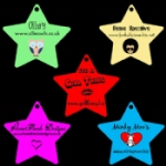 Large Personalised Star Tags