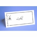 Love Birds Folded Place Name Cards
