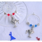 Martini Girl Wine Glass Charms & Napkin Rings