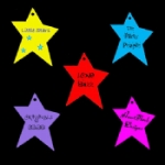 Medium Personalised Funky Star Tags