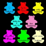 Personalised Medium Teddy Tags