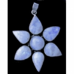 Huge Moonstone Flower Pendant