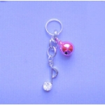 Rhinestone Music Note Pet Collar Charm