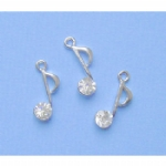 Rhinestone Music Note Charms