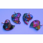Dichroic Nibbled Heart Pendant Necklace