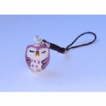 Porcelain Owl Mobile /MP3 Player Charm
