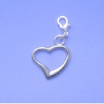 Funky Heart Pet Collar Charm