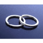 Silver Tone 25mm Key Ring Split Ring