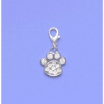 Crystal Paw Pet Collar Charm