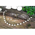 Kali Bronze Freshwater Pearl Charm Necklace