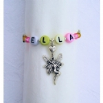 Personalised Pastel Alphabet Beaded Napkin Rings