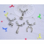 Personalised Silver Wine Glass Charms and Napkin Rings