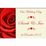 Petals Personalised Wedding Wine & Champagne Bottle Labels