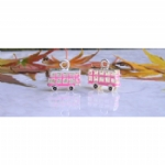 3D Pink Enamel London Bus Charm