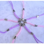 Pink / Lilac Mobile Phone Charm Lariats
