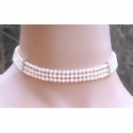 Purity Crystal Pearl Multi Strand Choker