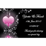 Reflections Of The Heart Personalised Wedding Wine & Champagne Bottle Labels