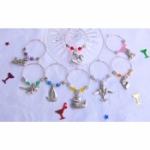 Retro Toy Wine Glass Charms & Napkin Rings