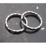 Silver Ripple Keyring / Split Ring