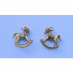 Bronze Colour Rocking Horse Charms