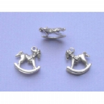 Antique Silver Colour Rocking Horse Charms