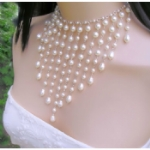 Salome Crystal Pearl Necklace