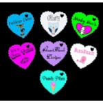 Personalised Scalloped Heart Tags
