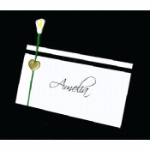 Calla Lily & Ribbon Place Name Cards