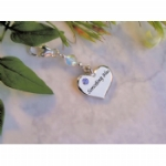 Silver Plated Heart Something Blue Charm