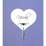 Heart Place Name Card