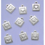 Square Heart Charms