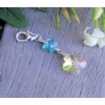 Crystal Butterfly & Flower Something Blue Charm