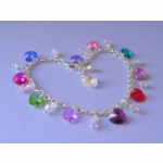 Crystal Heart Ankle Chain