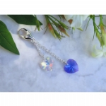 Crystal Heart Something Blue Charm