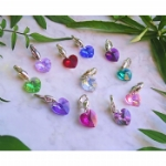 Crystal Heart Pet Collar Charm