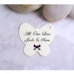 Medium Personalised Butterfly Favour Tags