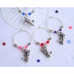3D Steam Train Wine Glass Charms & Napkin Rings