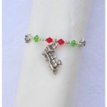 3D Steam Train Beaded Napkin Rings