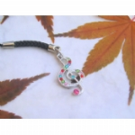 Crystal Treble Clef Mobile /MP3 Player Charm