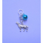 Howling Wolf Pet Collar Charm