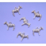 Silver Coloured Zebra Charms